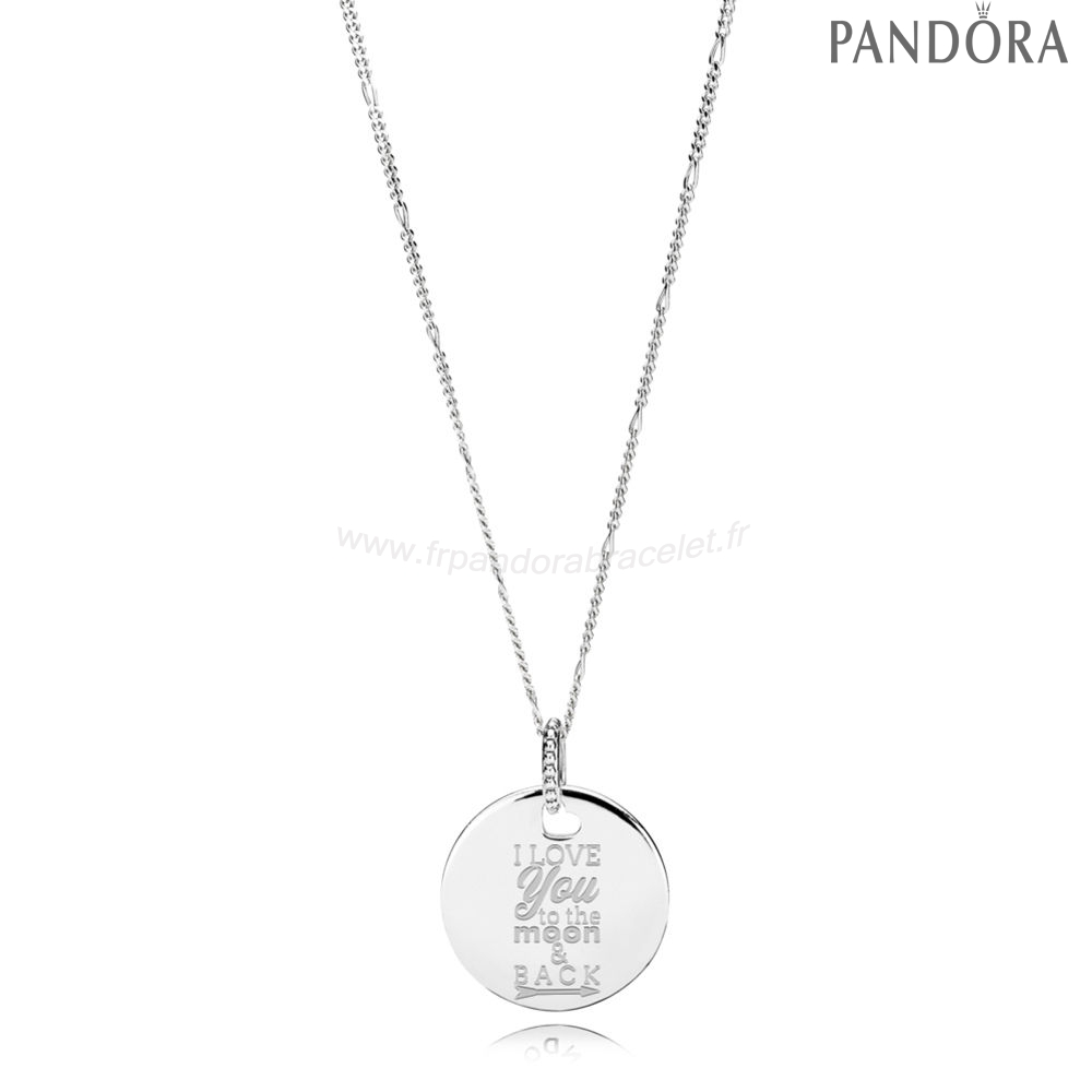 Pandora Soldes I Amour Ài To The Lune & Back Colliers Avec Pendentifs