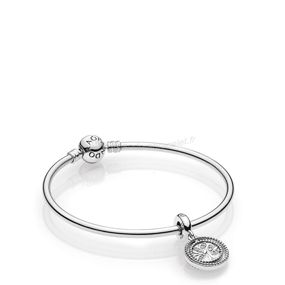 Pandora Soldes Family Tree Bangle Gift Set