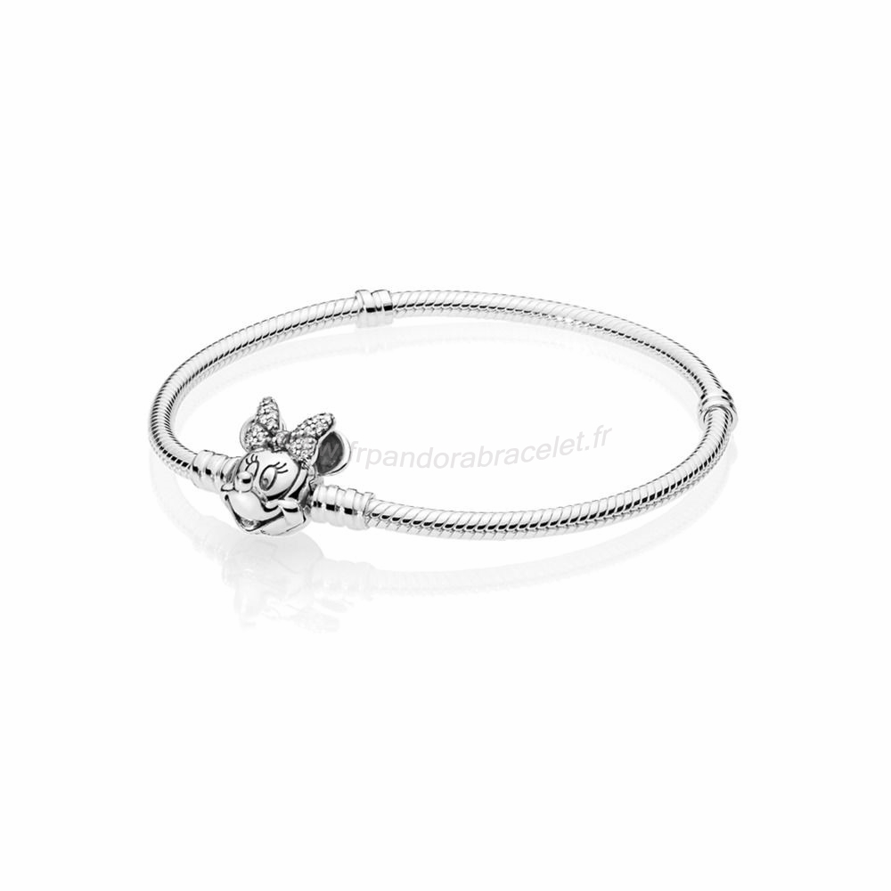 Pandora Soldes Disney Portrait Chatoyant De Minnie Moments Bracelets