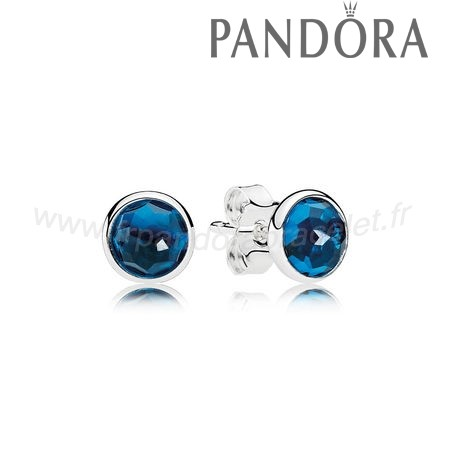 Pandora Soldes Boucles D'Oreilles December Droplets Stud London Blue Crystal