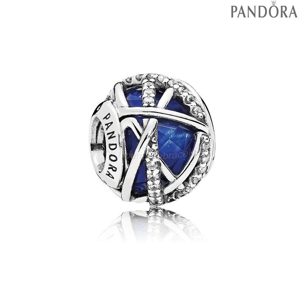 Pandora Soldes Collection Hiver Galaxy Royal Blue Crystal Clear Cz