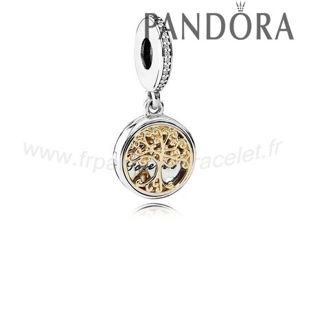 Pandora Soldes Dangle Charms Famille Roots Clear Cz