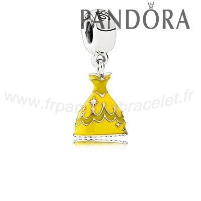 Pandora Soldes Disney Belle Robe Dangle Charm Mixed Email