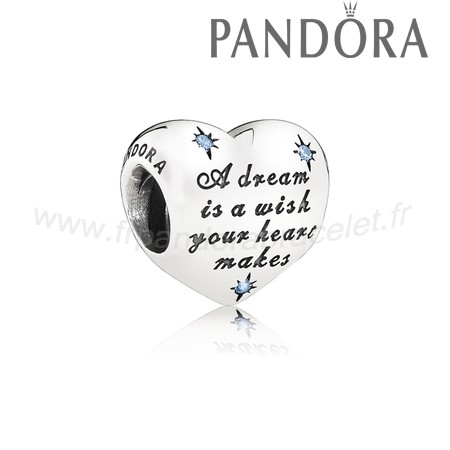Pandora Soldes Disney Breloques Cendrillon Dream Charm Fancy Lumiere Blue Cz