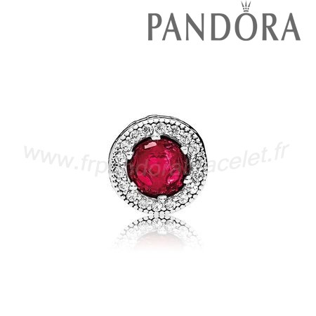 Pandora Soldes Essence Passion Charme Synthetique Rubis Clear Cz