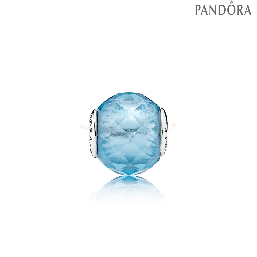 Pandora Soldes Essence Relation Amicale Charme Sky Blue Crystal