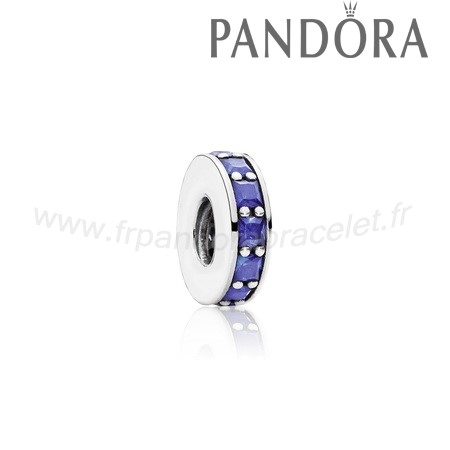 Pandora Soldes Eternity Spacer Cristal Bleu Royal