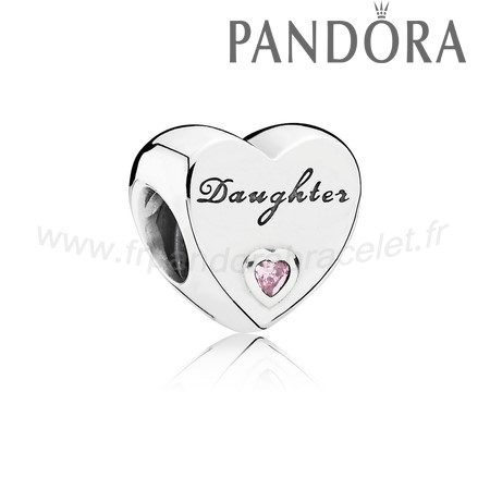 Pandora Soldes Famille Charms Charme Fille Amour Rose Cz