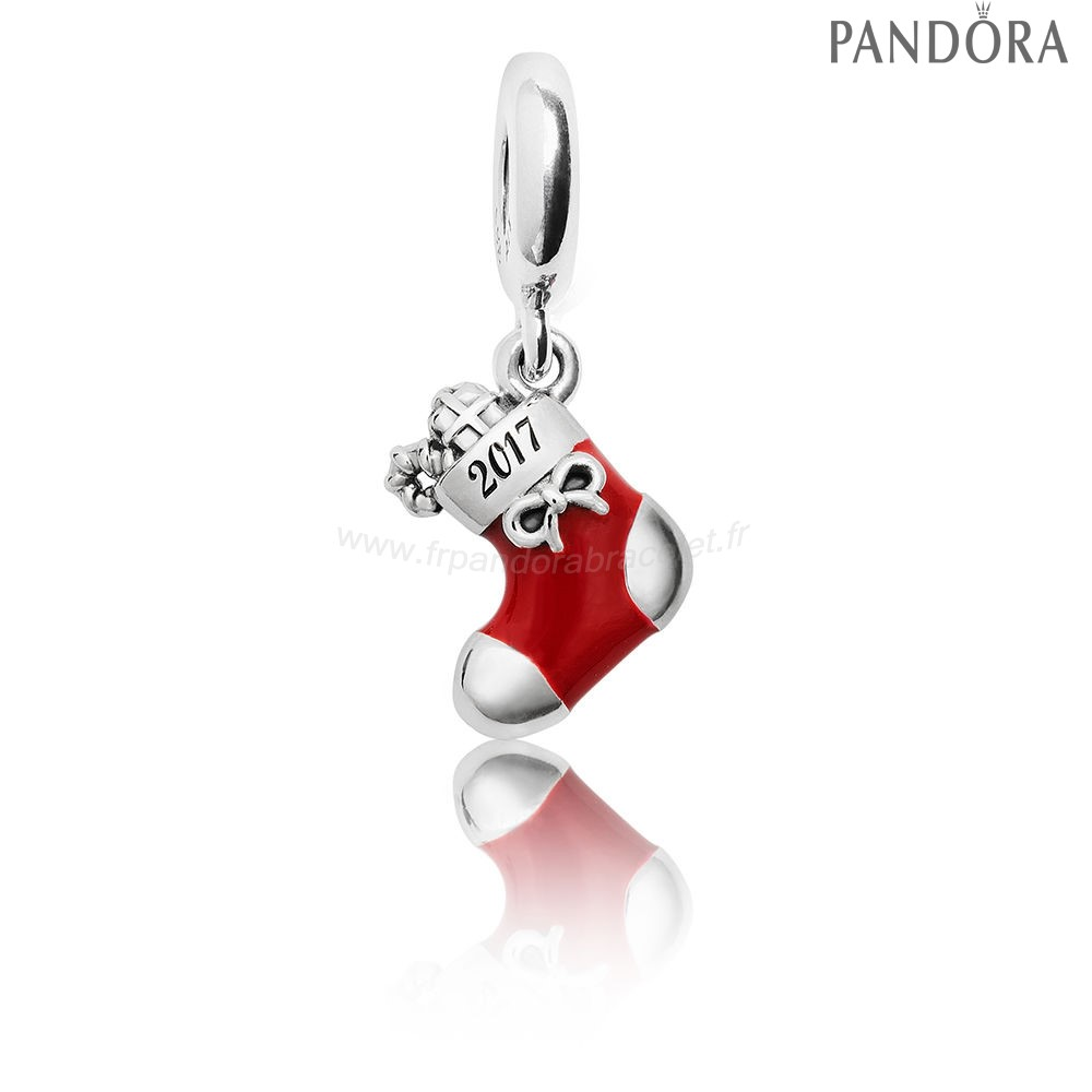 Pandora Soldes Hiver Collection 2017 Grave Noel Stocking Limited Edition Charm