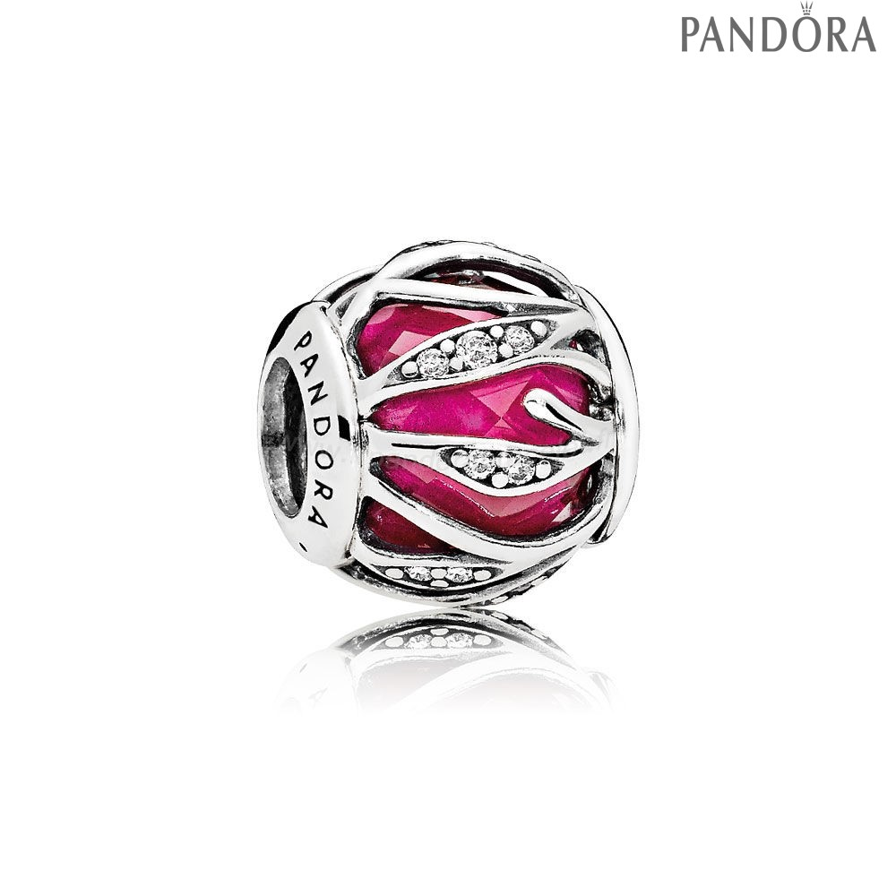 Pandora Soldes Nature Charms Nature'S Radiance Synthetique Ruby Clear Cz
