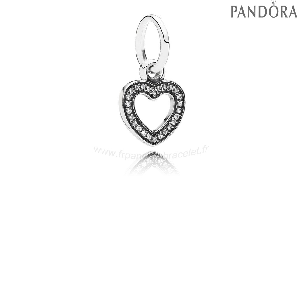 Pandora Soldes Pandora Alphabet Symboles Charms Symbole Of Amour Dangle Charm Clear Cz