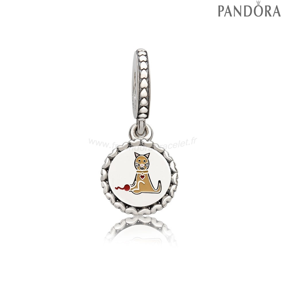 Pandora Soldes Pandora Animaux Charms Cat Stick Figure Dangle Charme Mixed Email