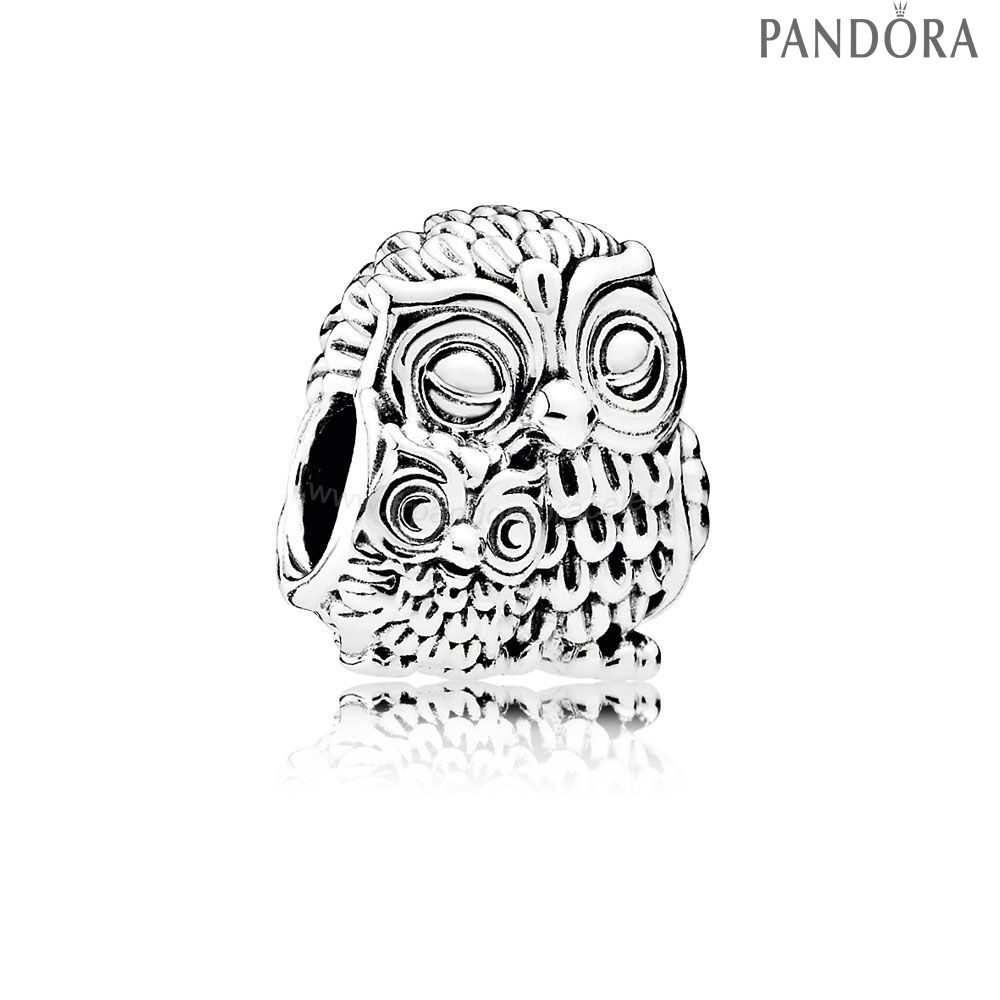Pandora Soldes Pandora Animaux Charms Charming Owls Charm