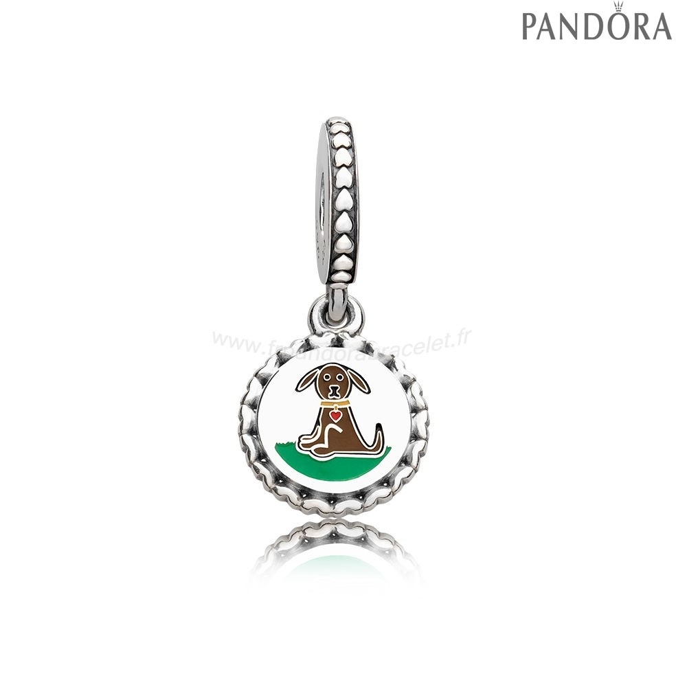 Pandora Soldes Pandora Animaux Charms Chien Baton Figure Dangle Charme Mixed Email