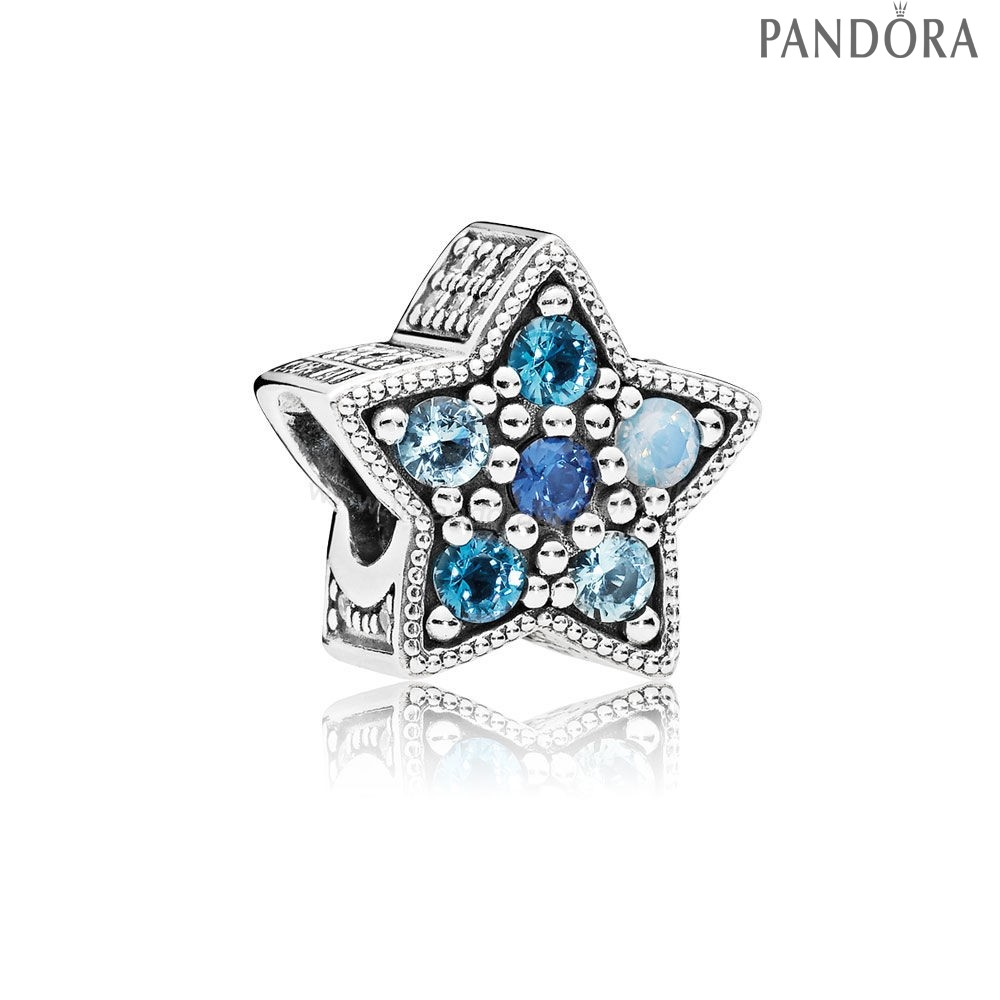 Pandora Soldes Pandora Collection D'Hiver Bright Etoile Charm Multi Coloured Crystals