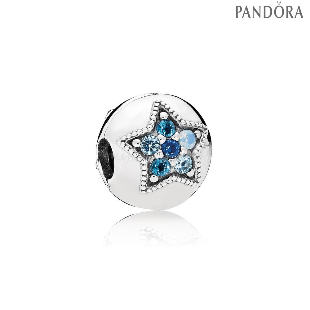 Pandora Soldes Pandora Collection D'Hiver Bright Etoile Clip Multi Coloured Crystals