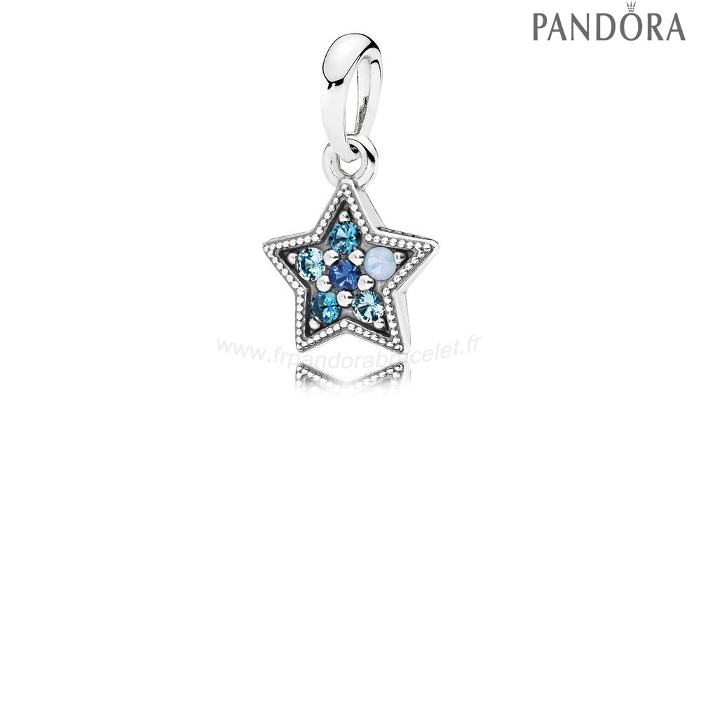 Pandora Soldes Pandora Collection D'Hiver Bright Etoile Collier Pendentif Multi Coloured Crystals