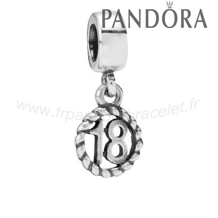 Pandora Soldes Pandora Dangle Charms 18Eme Anniversaire Dangle Charm