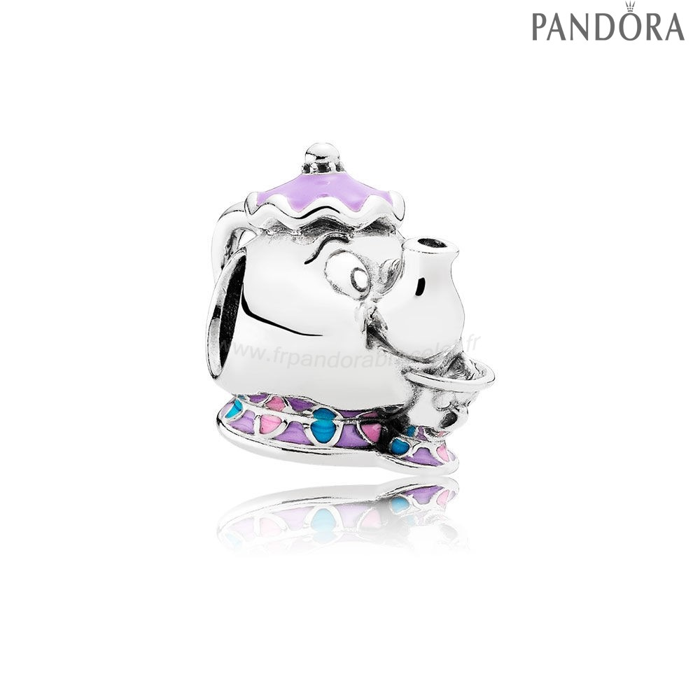Pandora Soldes Pandora Dangle Charms Disney Mrs. Potts Puce Charme Mixed Email