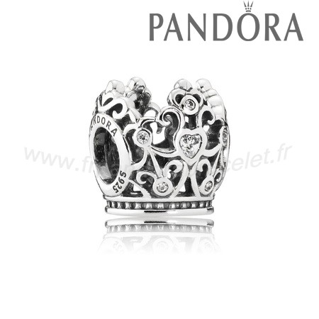 Pandora Soldes Pandora Disney Collection Disney Princesse Couronne Charme Clear Cz