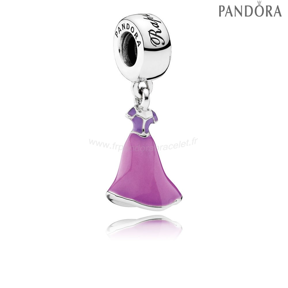 Pandora Soldes Pandora Disney Collection Disney Rapunzel'S Robe Dangle Charm Mixed Enamel