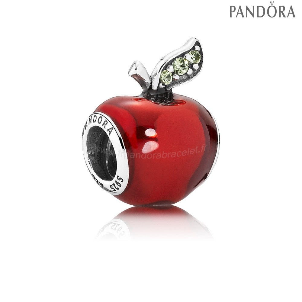 Pandora Soldes Pandora Disney Collection Disney Snow Blanc'S Pomme Charm Red Enamel Lumiere Vert Cz
