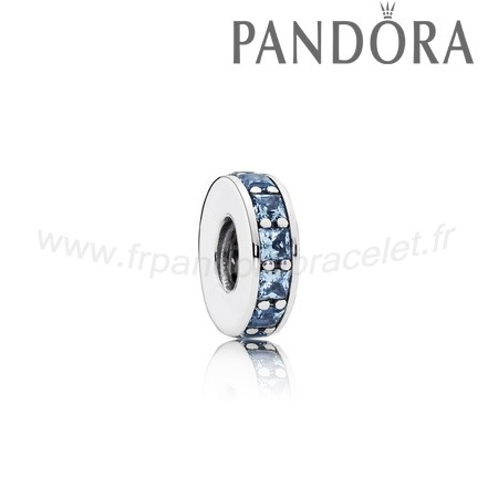 Pandora Soldes Pandora Espaceurs Charms Eternity Spacer Sky Blue Crystal