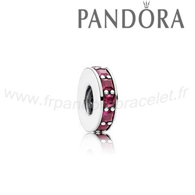 Pandora Soldes Pandora Espaceurs Charms Eternity Spacer Synthetic Ruby