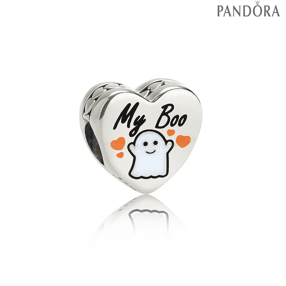 Pandora Soldes Pandora Fetes Charms Halloween Ma Boo Charm Blanc Email