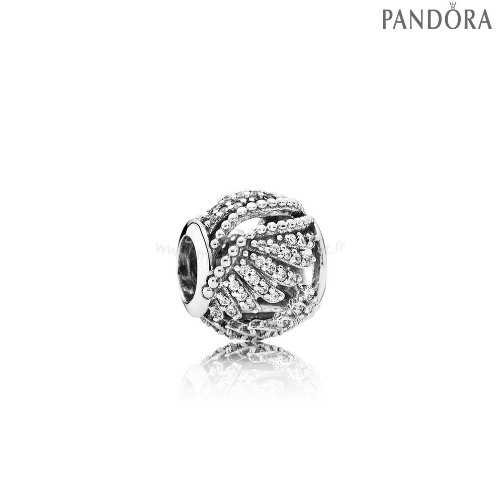 Pandora Soldes Pandora Inspirational Charms Majestic Plumes Clear Cz