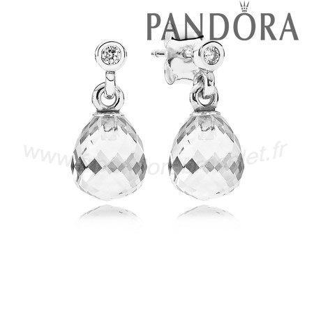 Pandora Soldes Pandora Intemporel Elegance Geometrique Drops Drop Clear Cz