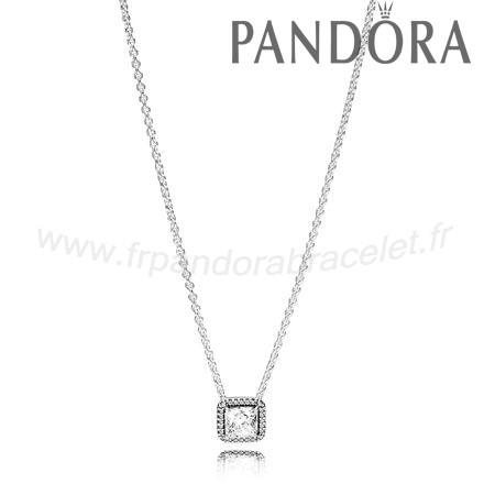 Pandora Soldes Pandora Intemporel Elegance Intemporel Elegance Collier Clear Cz