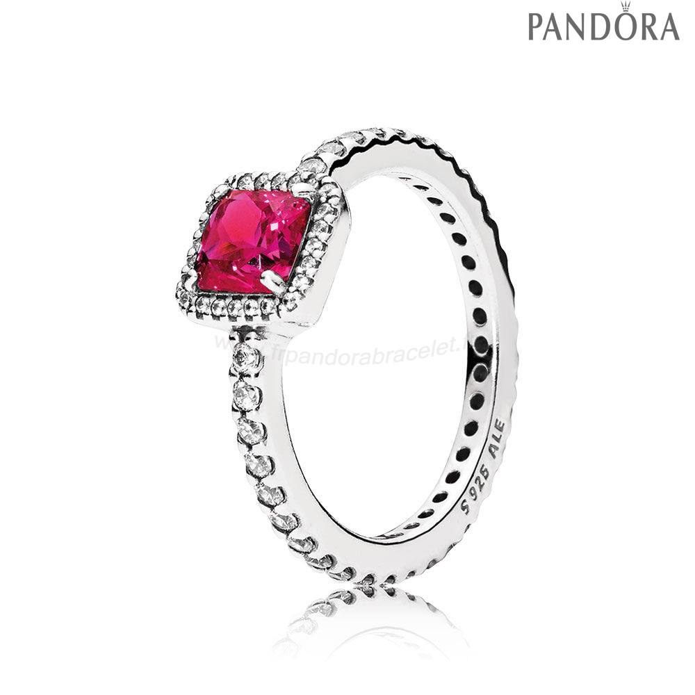 Pandora Soldes Pandora Intemporel Elegance Intemporel Elegance Synthetique Ruby Clear Cz