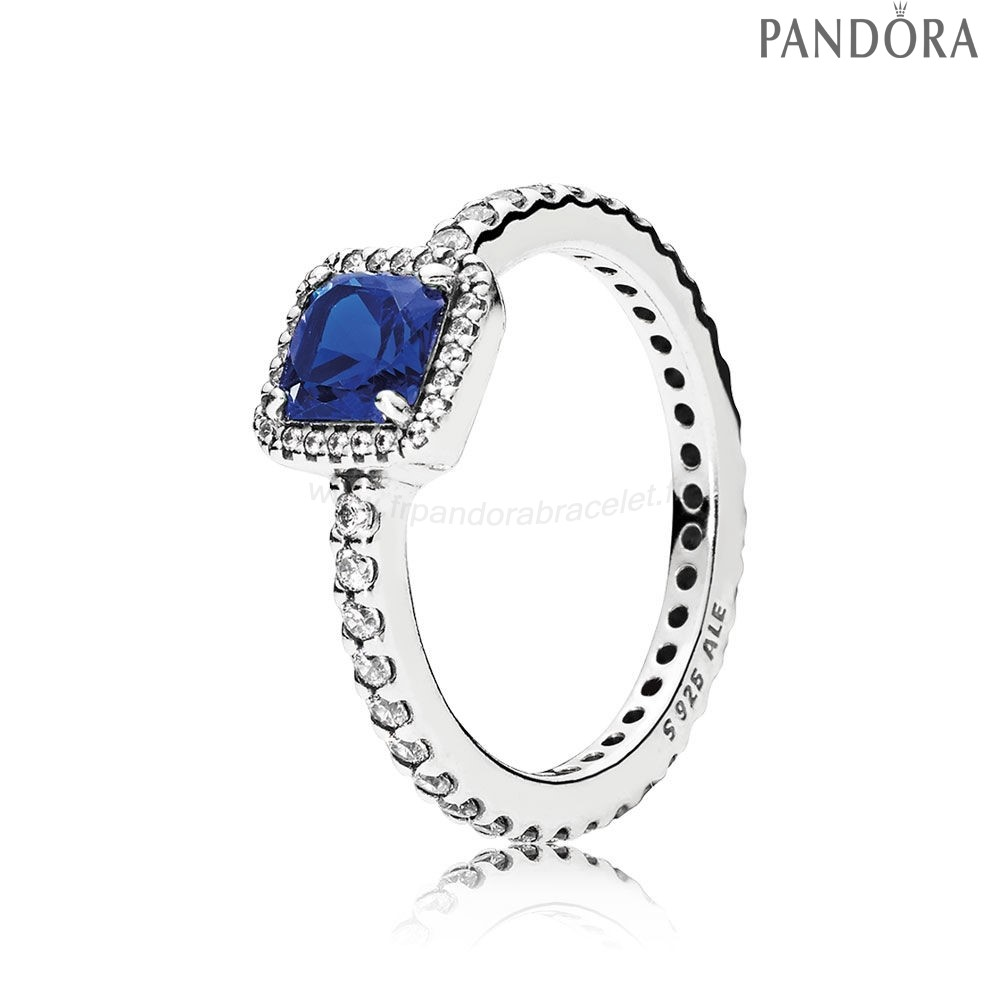 Pandora Soldes Pandora Intemporel Elegance Intemporel Elegance True Blue Crystal Clear Cz