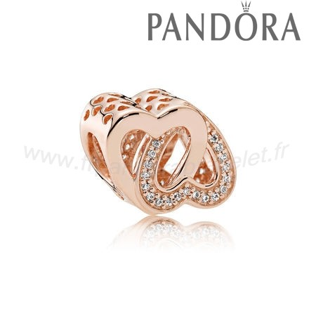 Pandora Soldes Pandora Mariage Anniversaire Charms Entwined Amour Charm Pandora Rose Clear Cz