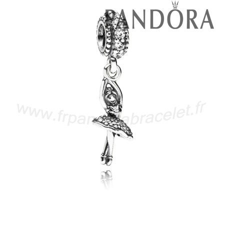 Pandora Soldes Pandora Passions Charms Musique Arts Ballerine Dangle Charm Clear Cz