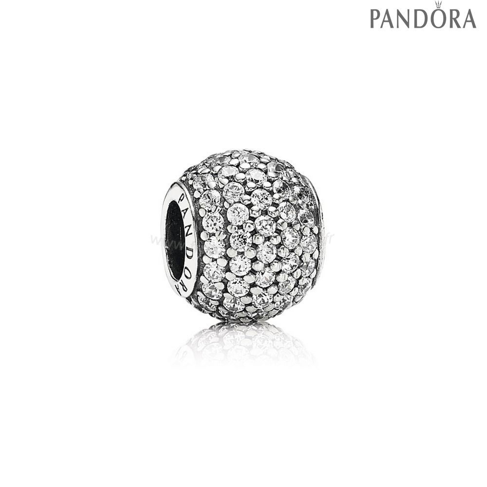 Pandora Soldes Pandora Sparkling Paves Charms Pave Lumieres Charm Clear Cz