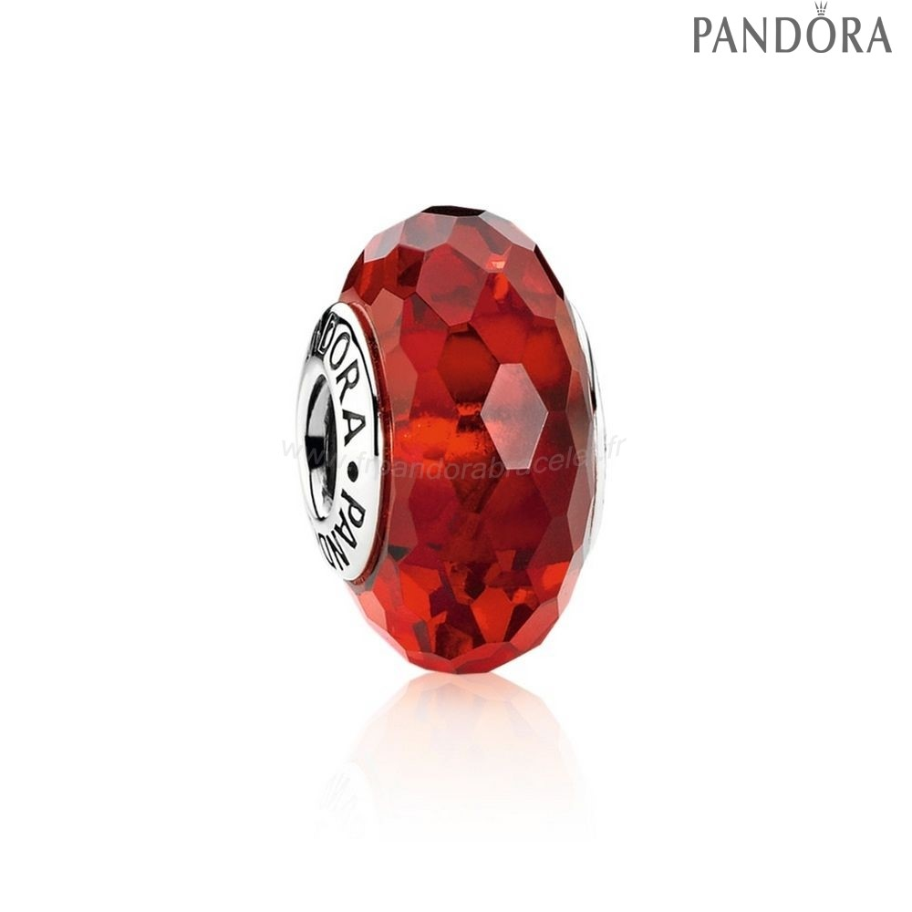 Pandora Soldes Pandora Vacances Charms Noel Fascinant Rouge Charme Murano Verre