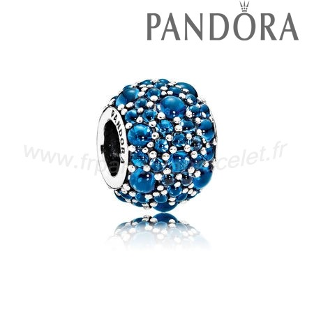 Pandora Soldes Toucher De Couleur Charms Shimmering Droplets Londres Blue Crystal